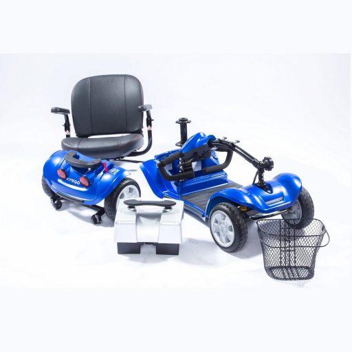 Mini Comfort blau zerlegt